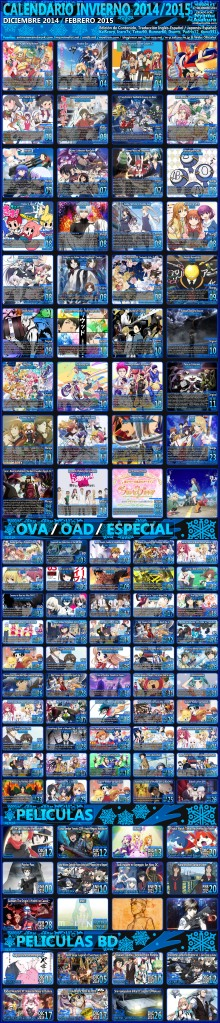 [OtakuErrante.com] Calendario Anime Invierno 2014/2015 Version#1